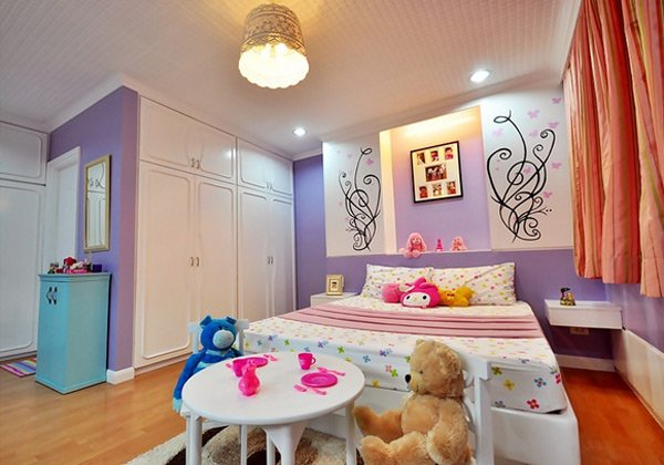 pretty childs bed