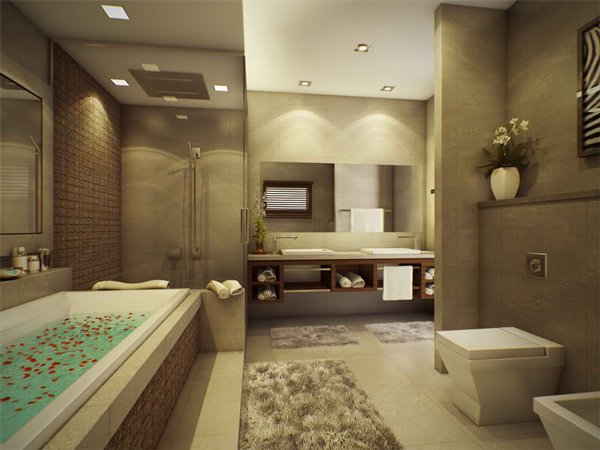 stunning modern bathroom designs  home design lover, Bathroom decor