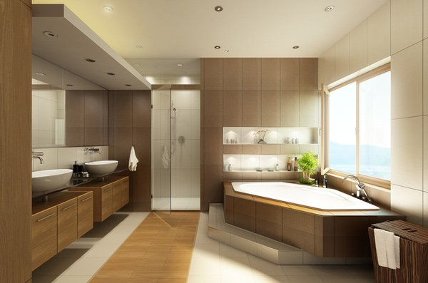 Brilliant 15 Stunning Modern Bathroom Designs Home Design Lover Largest Home Design Picture Inspirations Pitcheantrous