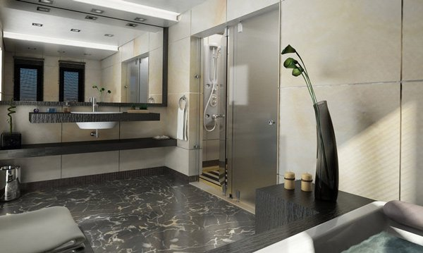 Phenomenal 15 Stunning Modern Bathroom Designs Home Design Lover Largest Home Design Picture Inspirations Pitcheantrous