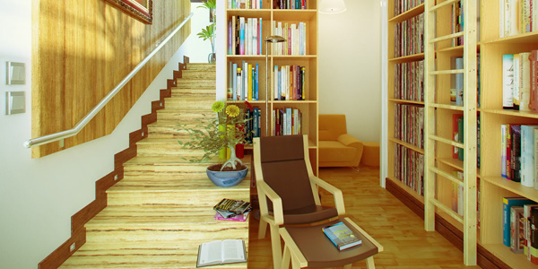 Have good bookshelves