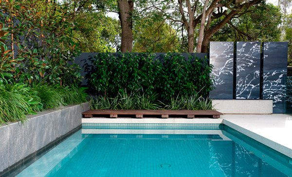 landscaping design a rectangular pool