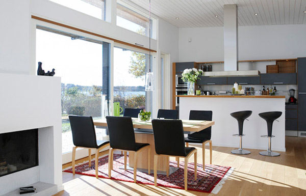 Neatly Designed Modern Dining Room