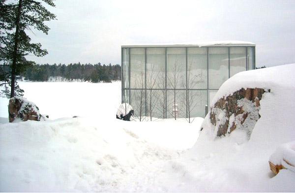 Glass House Snow House