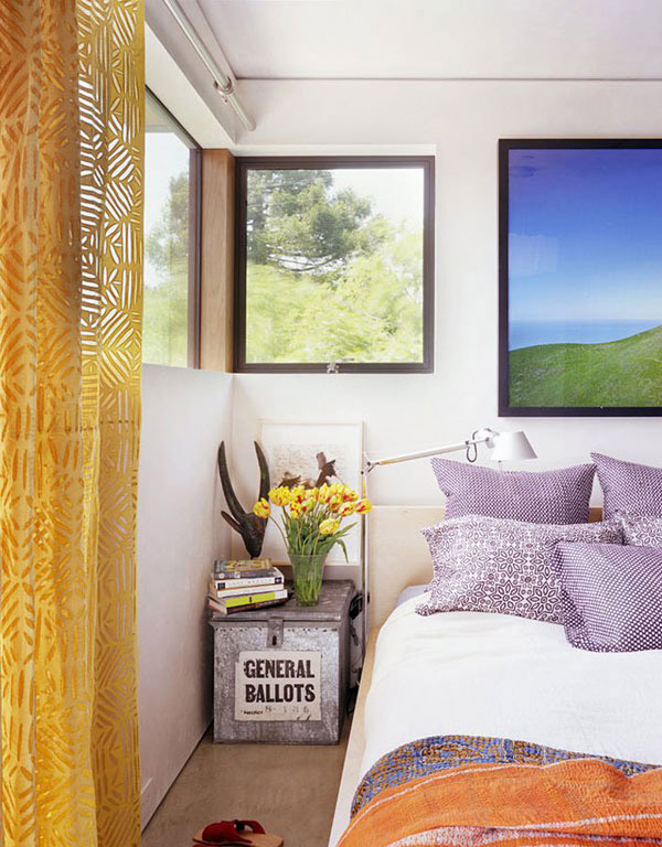 Stinson Beach Fronted House Bedroom