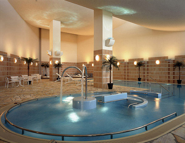Extravagant though Relaxing Indoor Pool Design