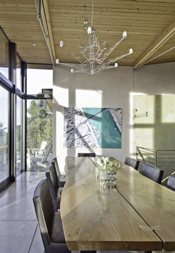 Stinson Beach Fronted House Dining Room