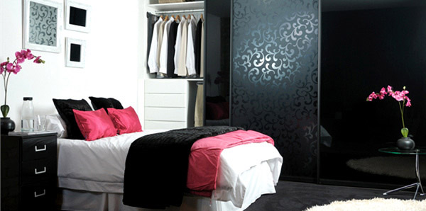 Black Damask Bedroom