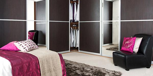 Dark Wood Silver Bedroom
