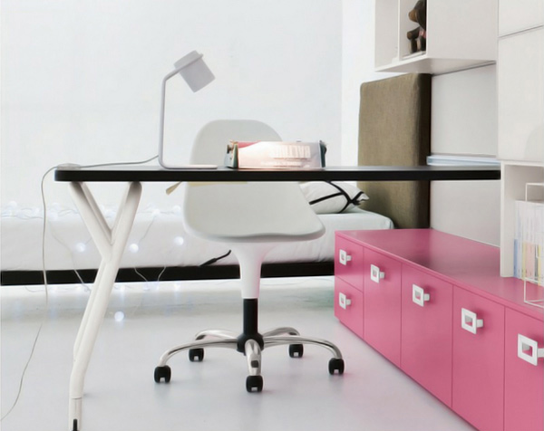 sliding desk chair