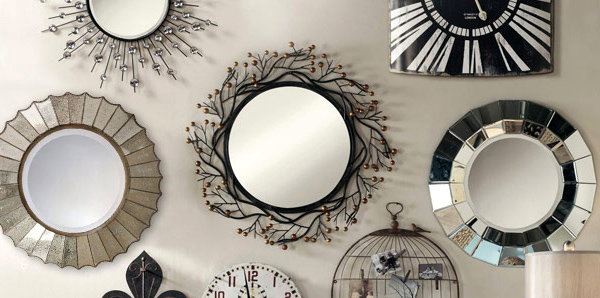 Use decorative mirrors