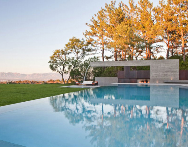 pool lawn area