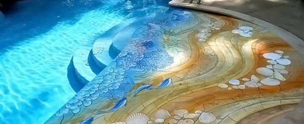 pool mosaic ceramic tiles from craig bragdy design
