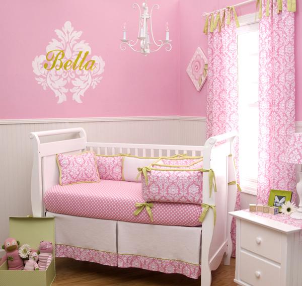 Candy Pink Damask Nursery  Carousel Designs. 15 Pink Nursery Room Design Ideas for Baby Girls   Home Design Lover