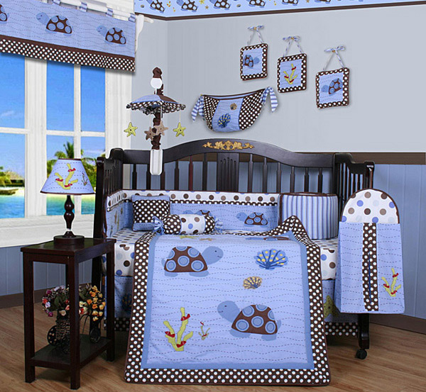 Sea Turtle Damask Nursery