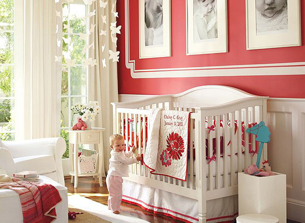 Pink Nursery Room Design