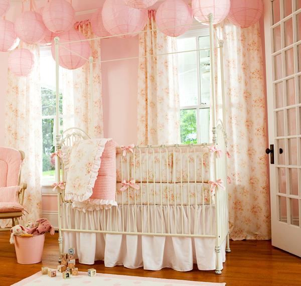 Shabby Chenille Pink Nursery