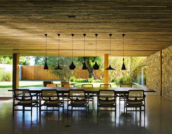 open dining area