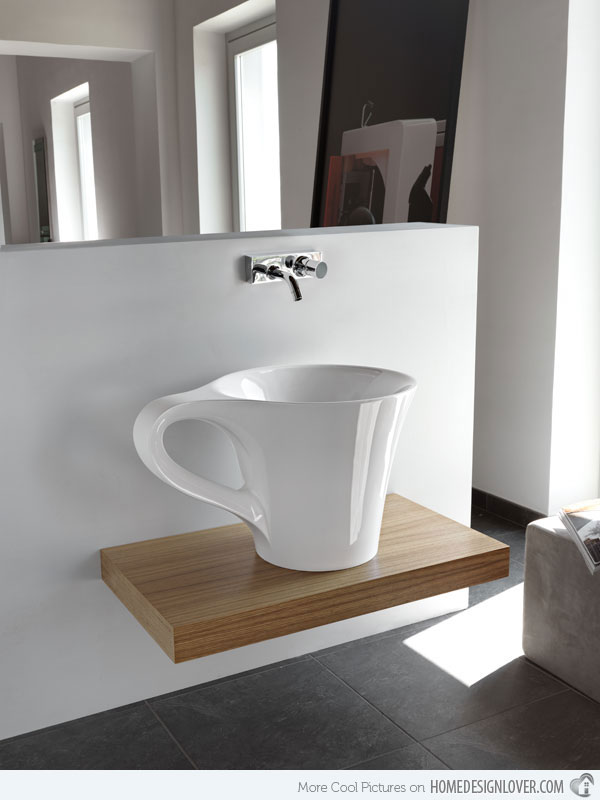 cup appoggio lavatory  This cup like wash basin. 10 Unique Wash Basins for Your Dream Bathroom   Home Design Lover