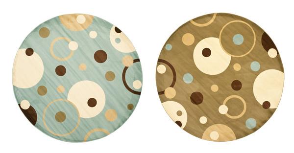 polka dots round rug