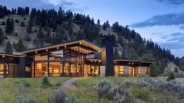 river bank house in montana