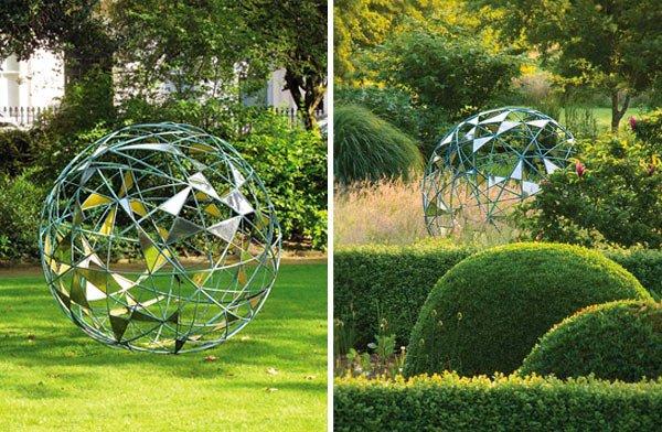 20 Smartly Designed Modern Spherical Garden Sculptures Home