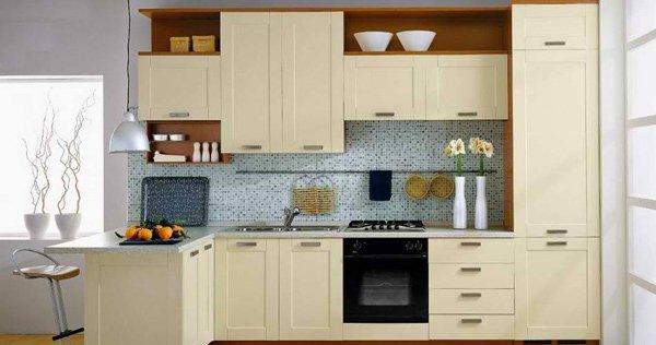 creamy-looking kitchen