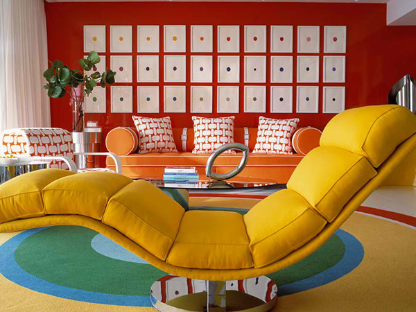 color blocking - 15 Colorful Living Room Designs For A Dynamic Look Home Design Lover