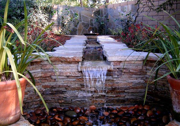 water feature designs for soft touch in your garden  home, Patio