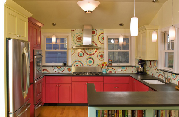 colorful kitchen designs