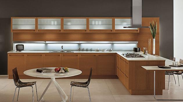 20 sleek and natural modern wooden kitchen designs home design lover - Modern Wood Kitchen Cabinets