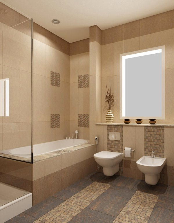 Beige Bathroom Design. 16 Beige and Cream Bathroom Design Ideas   Home Design Lover