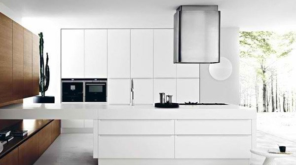 modern white kitchen design ideas  home design lover, Kitchen design
