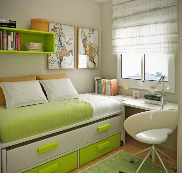 Maximized space. 20 Ingenious Workspaces for Teenage Boys   Home Design Lover