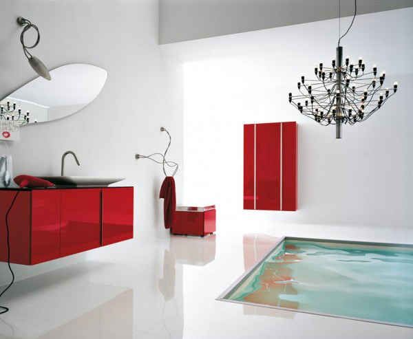 red cabinet furniture