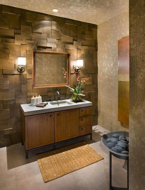 rustic wall treatment