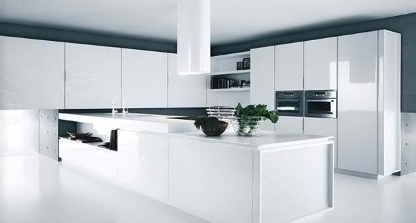 Modern White Kitchens - French Bathroom Cabinets