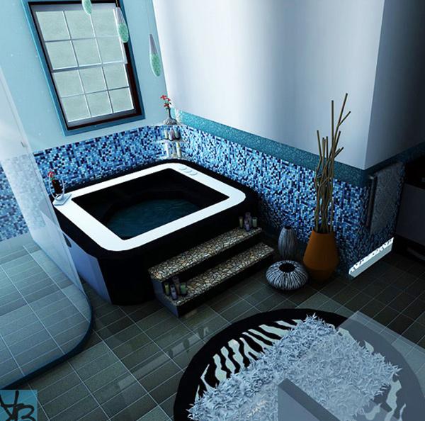 18 Cool and Charming Blue Bathroom Designs – Blue Bathroom