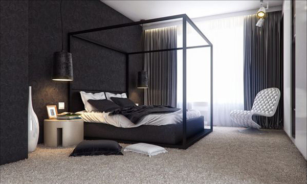 Black Pearl Bedroom. 16 Classy Black and White Bedroom Designs   Home Design Lover