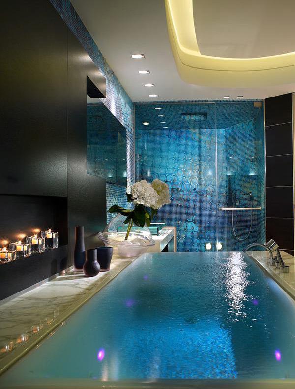 chromatherapy infinity tub