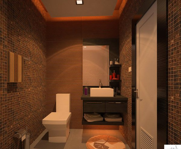Brown Bathroom design