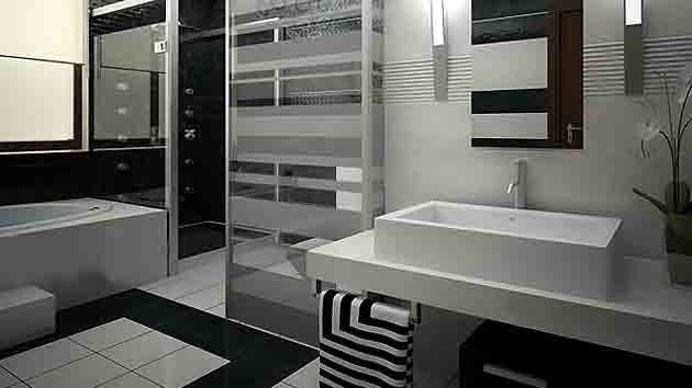 20 Eye Catching And Luxurious Black And White Bathrooms Home Design Lover
