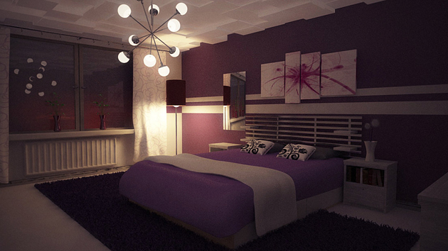 15 ravishing purple bedroom designs home design lover - Purple Bedroom Decorating Ideas