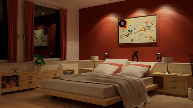 red bedroom designs collection