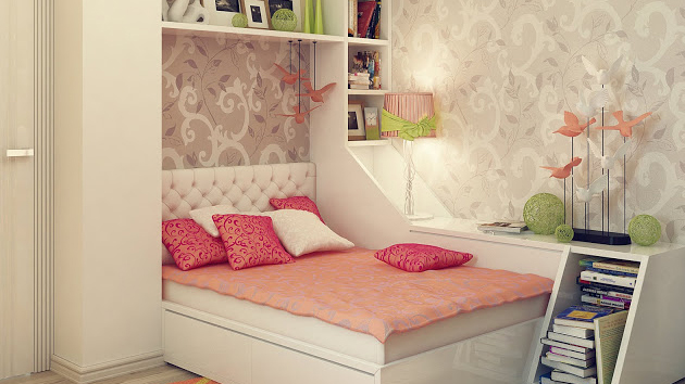 20 stylish teenage girls bedroom ideas home design lover. Black Bedroom Furniture Sets. Home Design Ideas