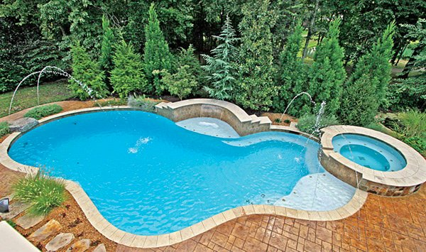 fountain design - Free Form Swimming Pool Designs
