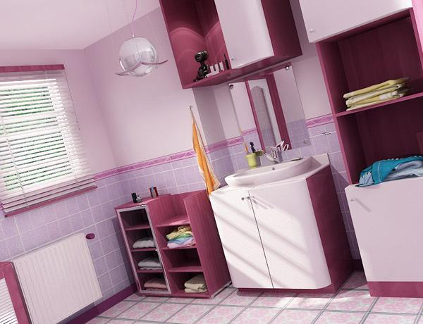 fantastic lavender bathroom