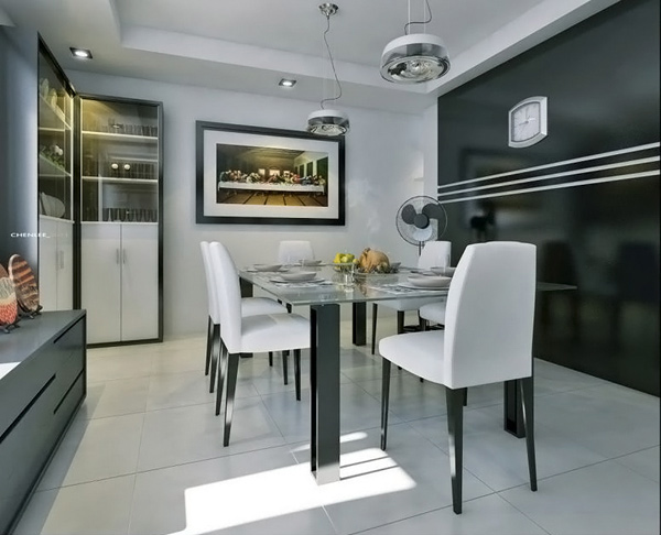 Kitchen, Dining & Living