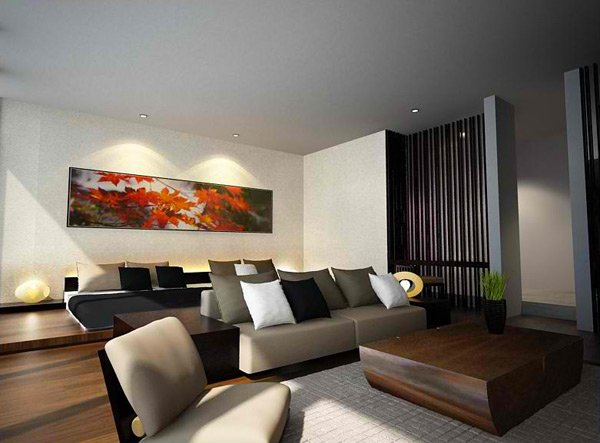zen inspired living rooms