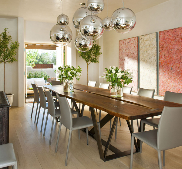 camino santander image r brant design the light fixtures make this modern room - Dining Room Light Fixture Modern